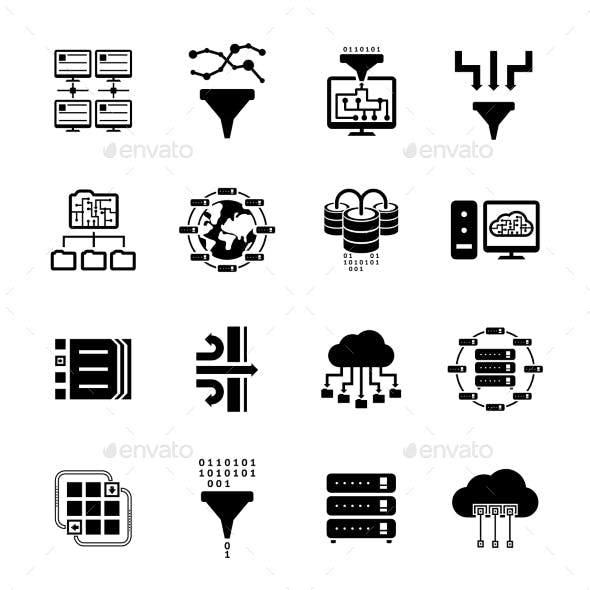 Data Filter and Data Transfer Icons