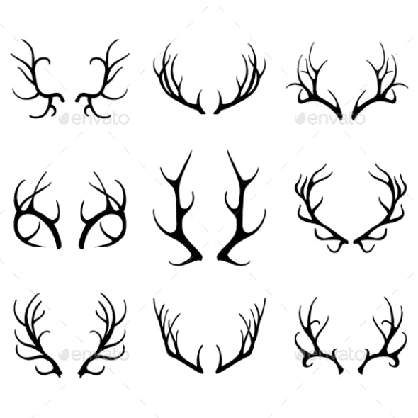Deer Antlers Set