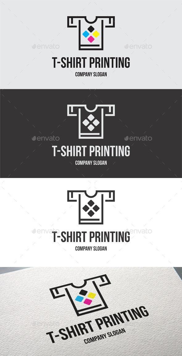 T-Shirt Printing Logo Templates - Objects Logo Templates