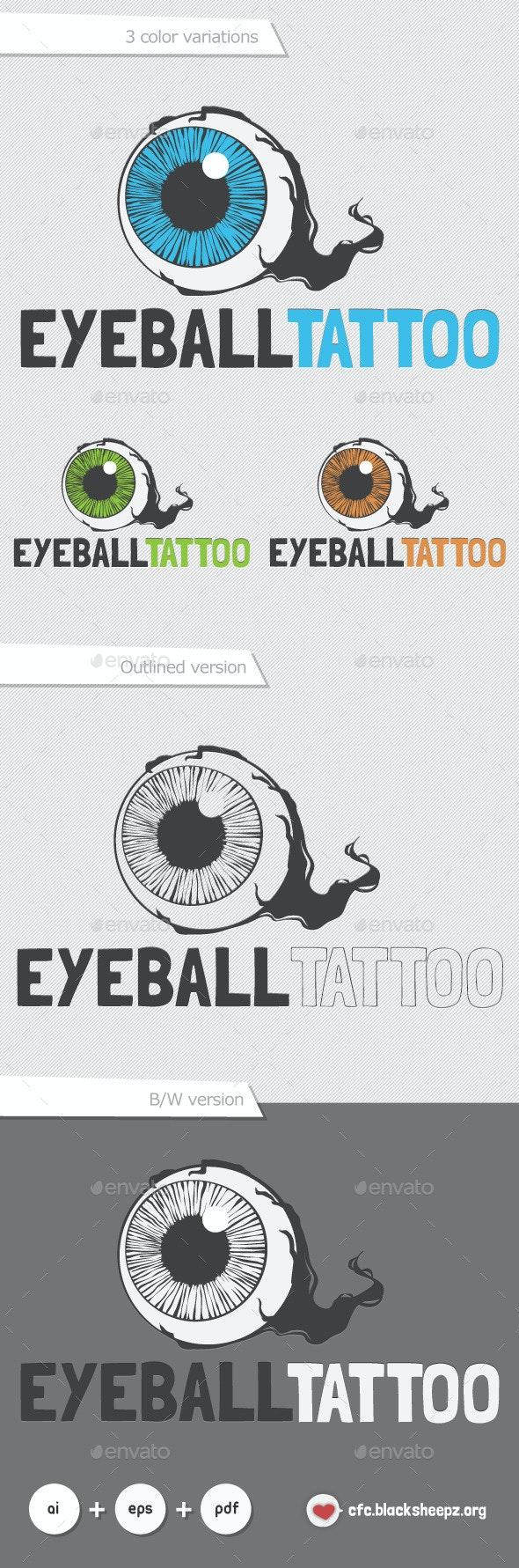 Eyeball Tattoo - Vector Abstract