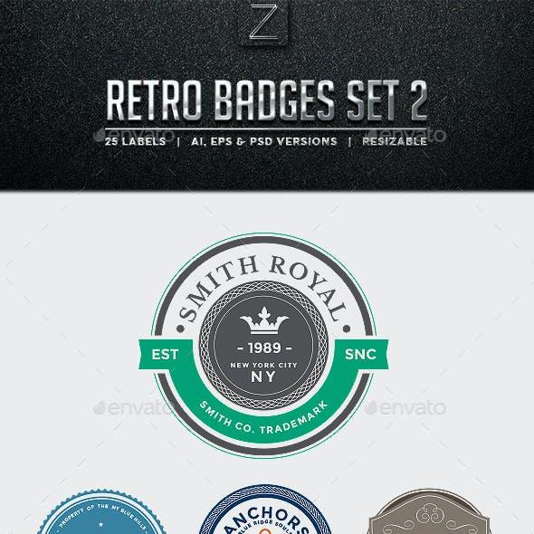 Retro Badges Set 2