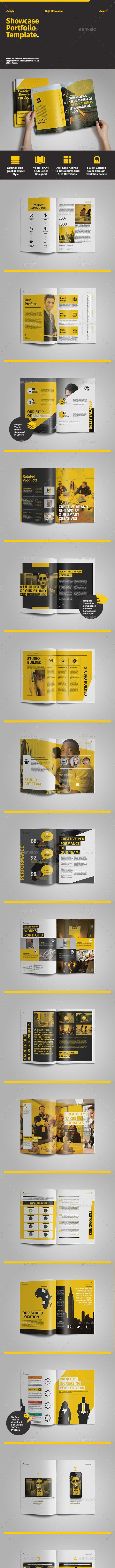 Showcase Portfolio Template - Portfolio Brochures