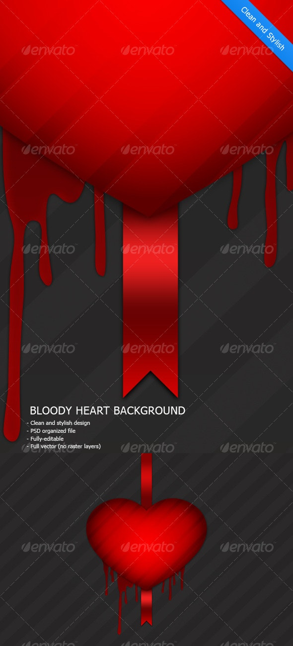 Bloody Heart Background - Backgrounds Graphics