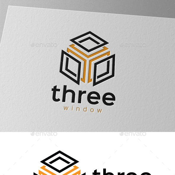 Three Window Cube Logo