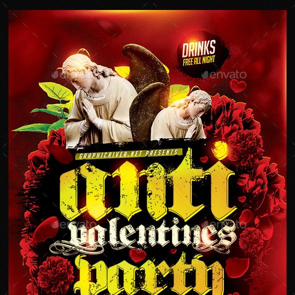 Anti Valentines Party | Flyer Template PSD