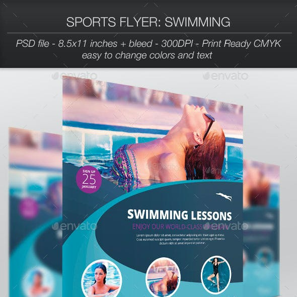 Sports Flyer: Swimming