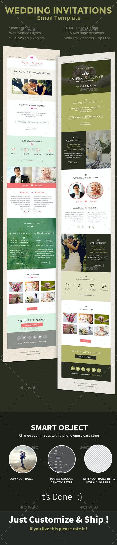 Wedding Invitation PSD Email Templates