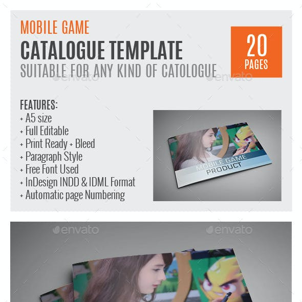 Mobile Games A5 InDesign Catalog Template
