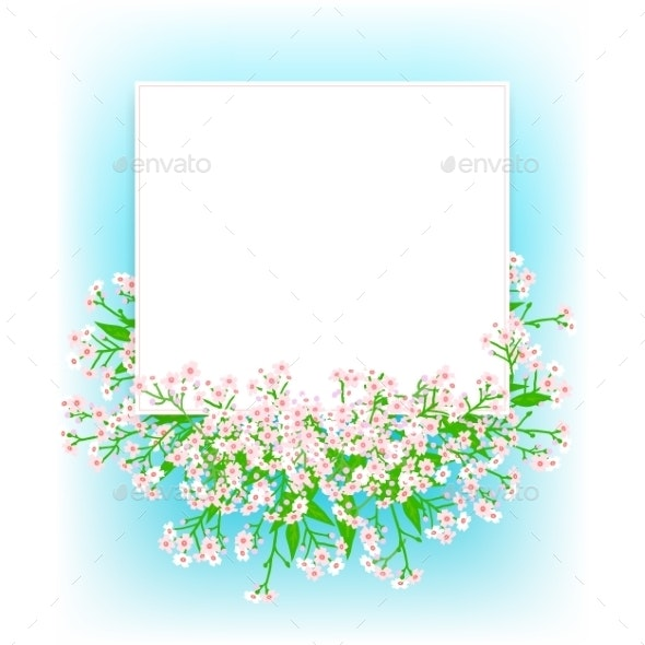 Card with Small Pink Flowers - Flowers & Plants Nature
