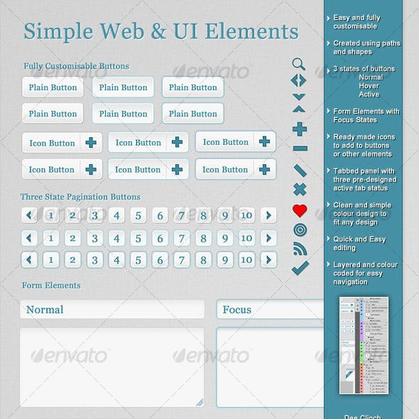 Simple Web and UI Elements