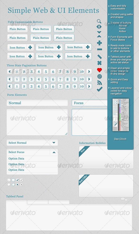 Simple Web and UI Elements - Miscellaneous Web Elements