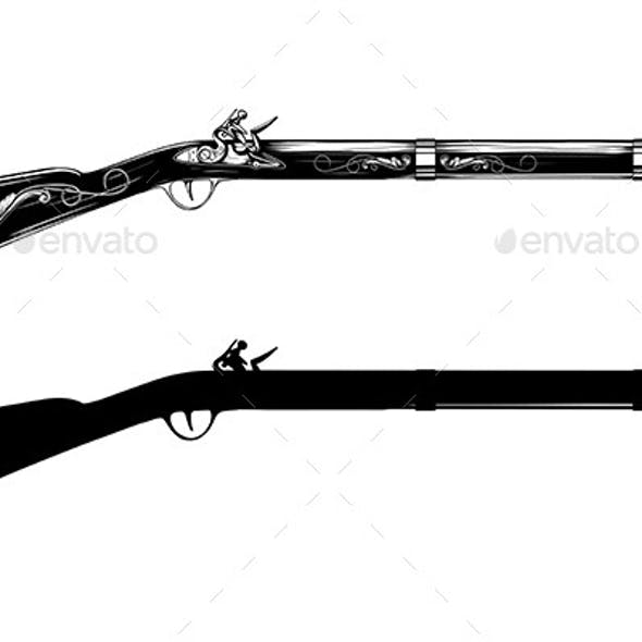 Old Flintlock Rifle