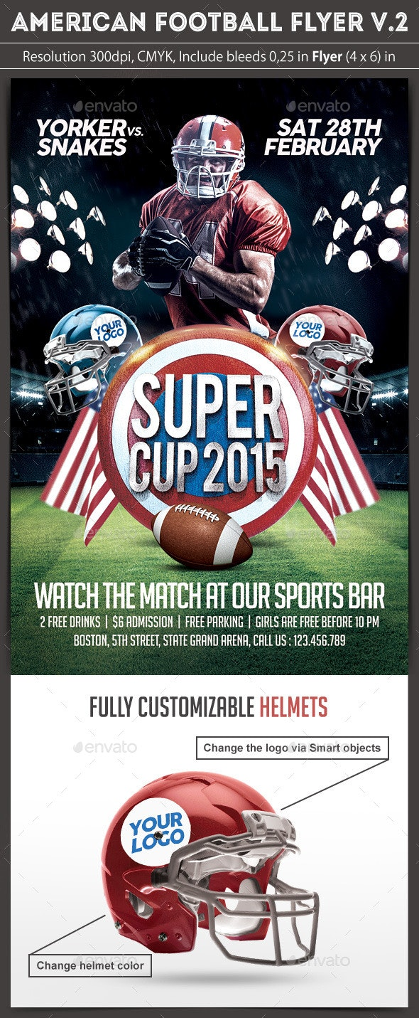 American Football Flyer v.2 - Sports Events