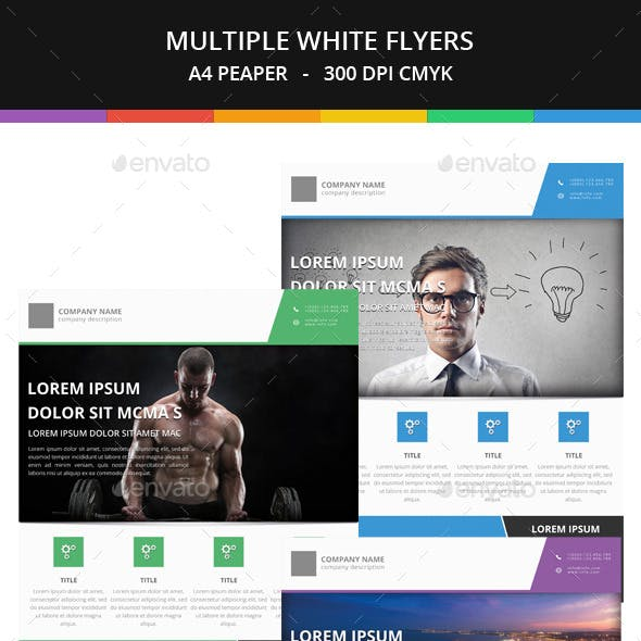 Business White Flyer Templates