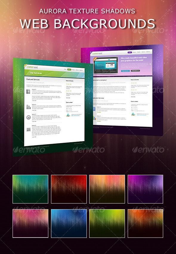 Aurora Shadows Web Backgrounds - Miscellaneous Web Elements