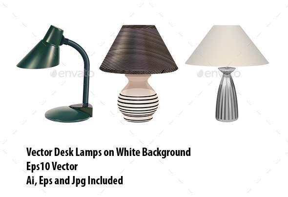 Table Lamps Set - Man-made Objects Objects