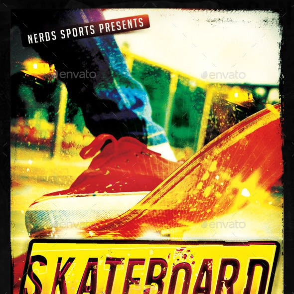 Skateboard Competition Sports Flyer