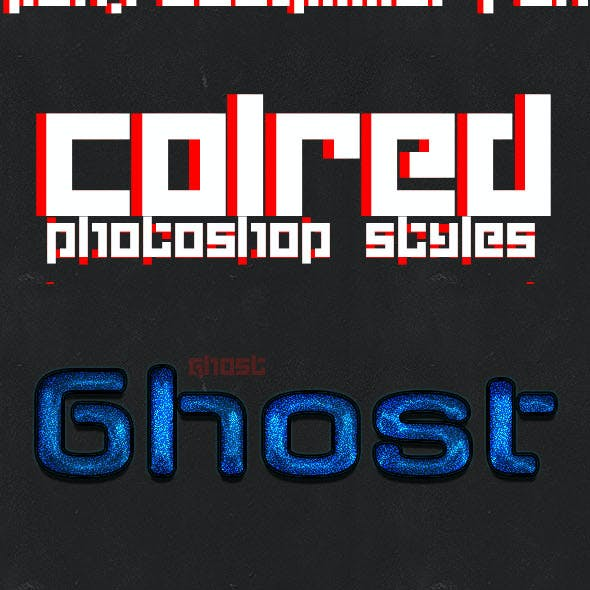Colored text effects