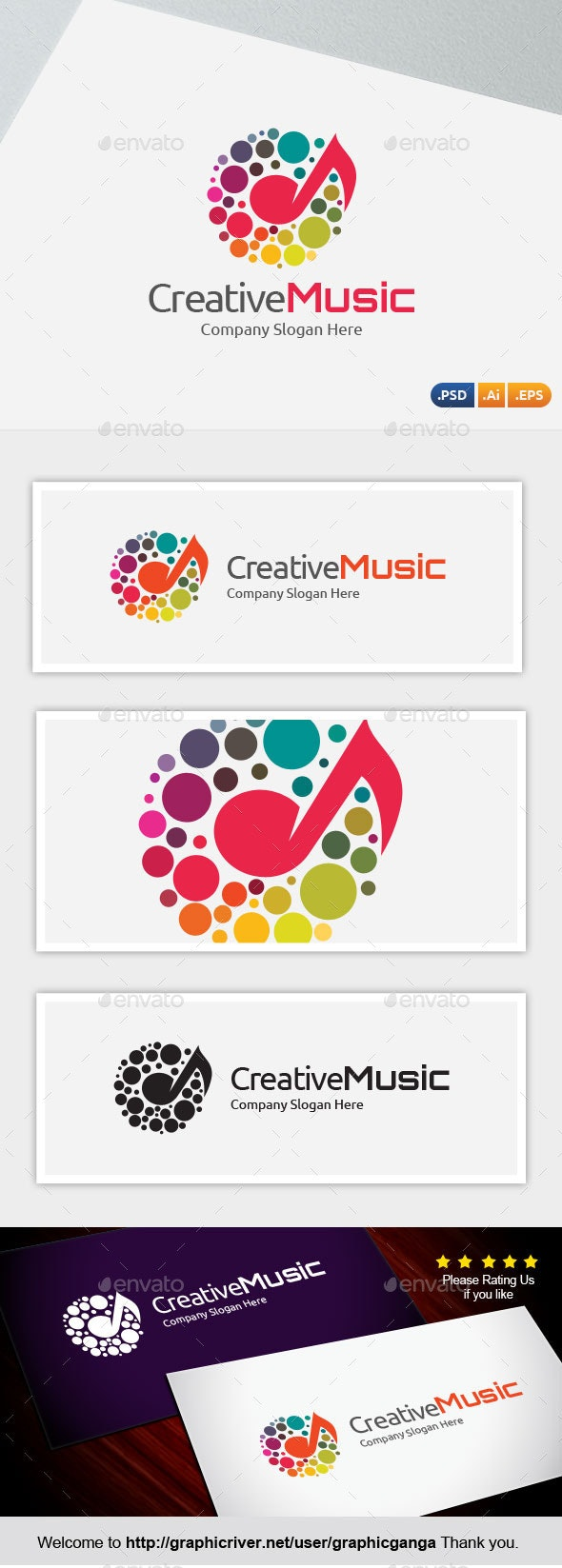 Creative Music - Abstract Logo Templates