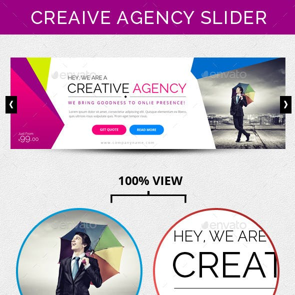Creative Agency Slider