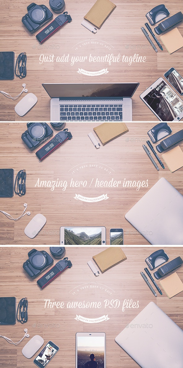 Hero / Header Images - Mock Up - Hero Images Graphics