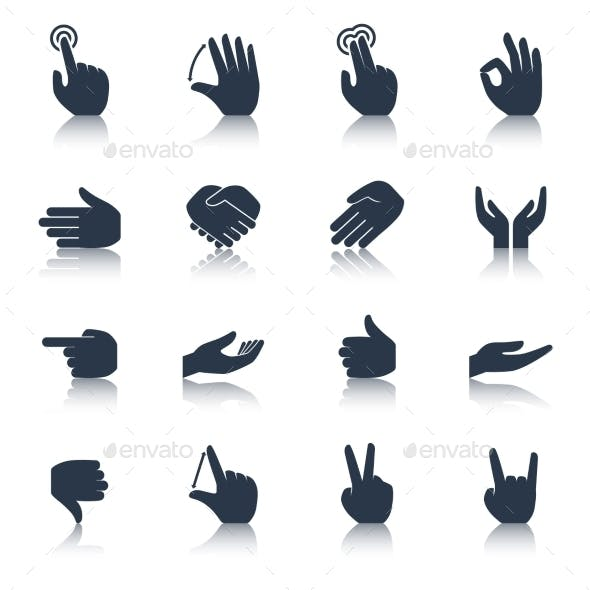 Hand Icons Black