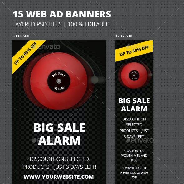 Online Marketing 'Sale Alarm' Web Banners