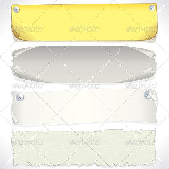 Vector Paper Banners - Characters Vectors