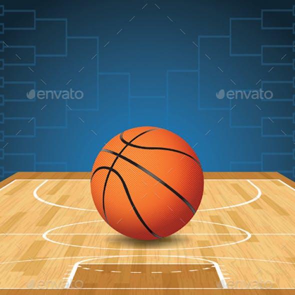 Basketball Court and Ball Tournament