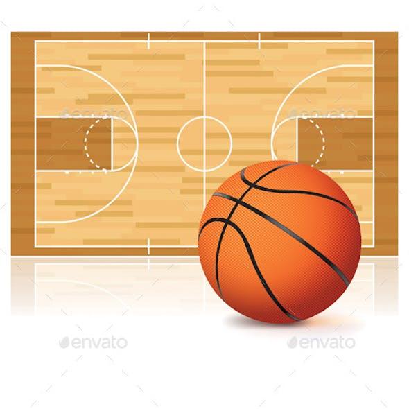 Basketball and Court