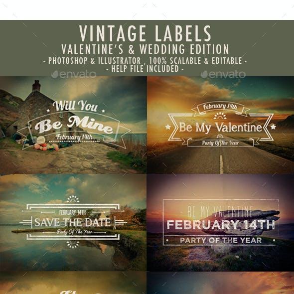 Valentine's Day Vintage Labels