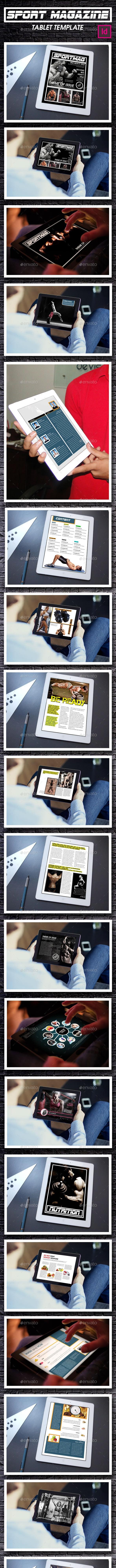 Tablet Sport Magazine Template - Digital Magazines ePublishing