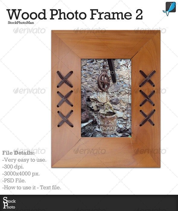 Wood Frame 2 - Home & Office Isolated Objects