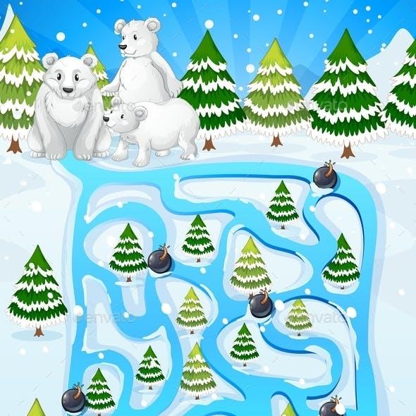 Winter Maze Game