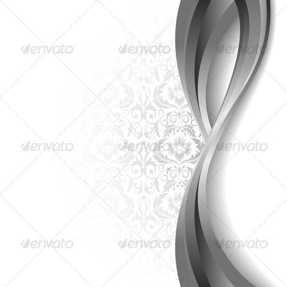 White  and silver background