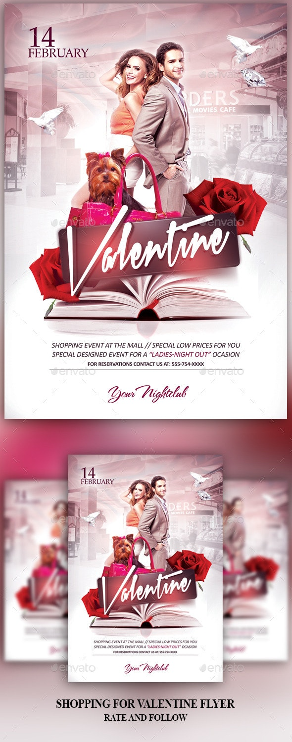 Shopping for Valentine - Events Flyers