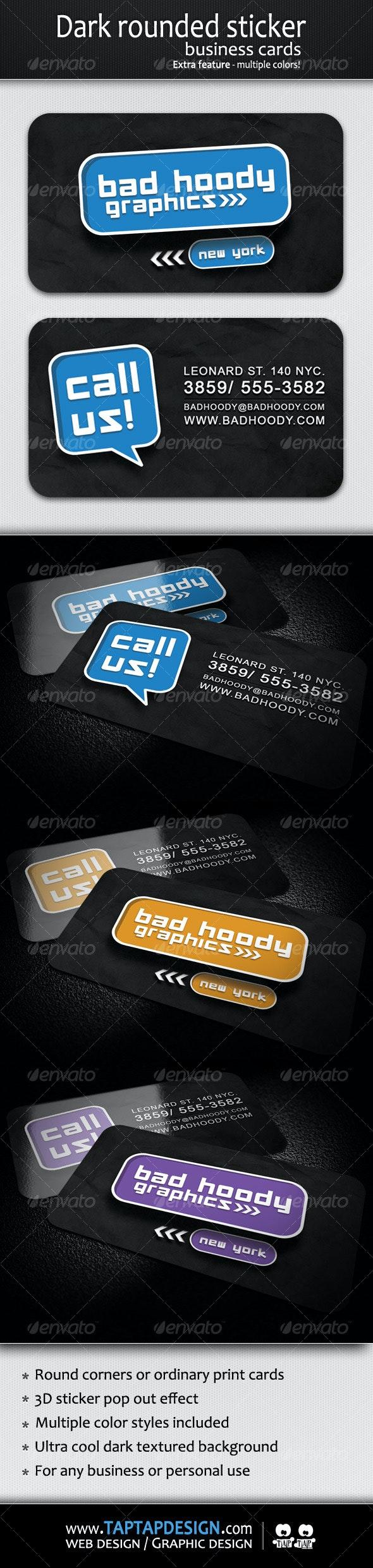 Dark Sticker Business Card - Creative Business Cards