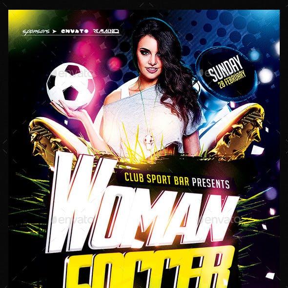 Women Soccer | Flyer Template PSD