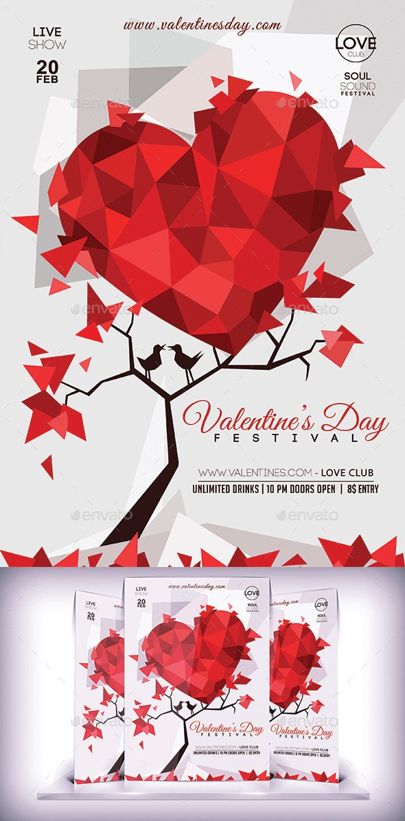 Valentines Day Lovers Flyer - Events Flyers