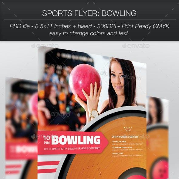 Sports Flyer Bowling