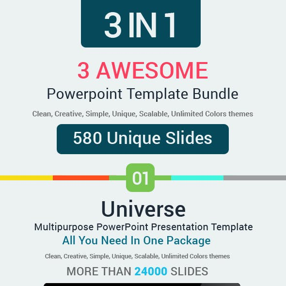 3 Powerpoint Template Bundle