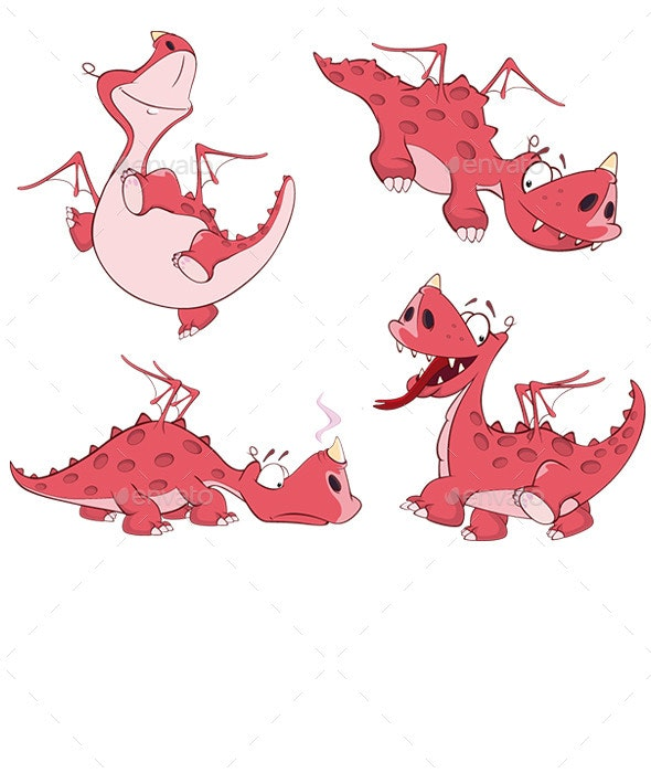 Red Dragon Set - Animals Characters