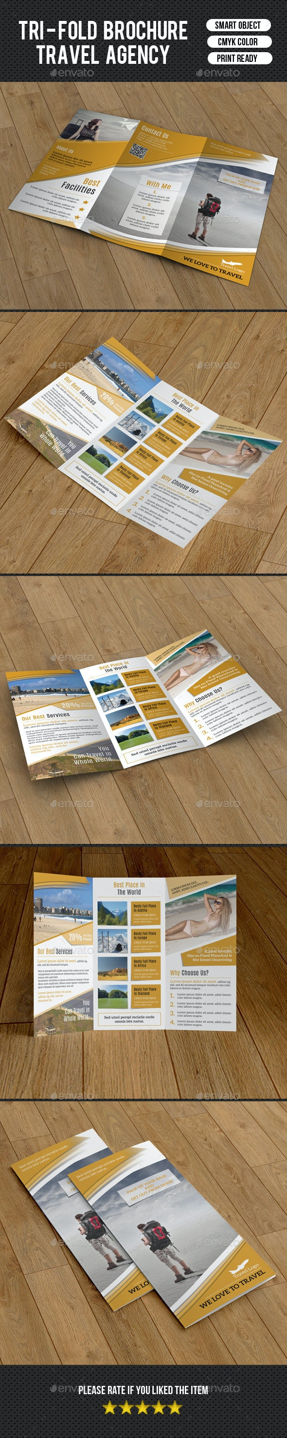 Travel Agency Trifold-V217 - Corporate Brochures