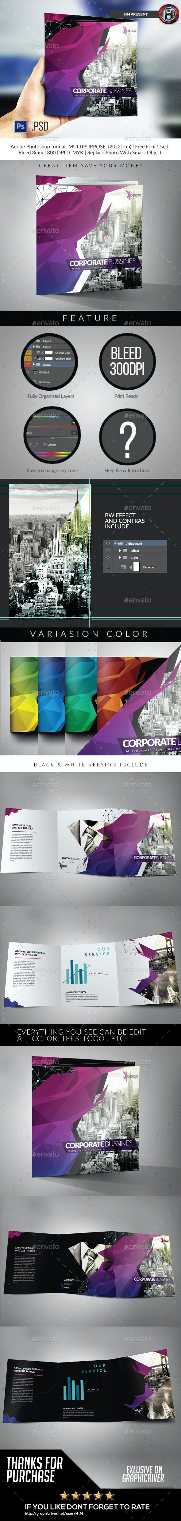 Square Modern Architecture Trifold - Corporate Brochures
