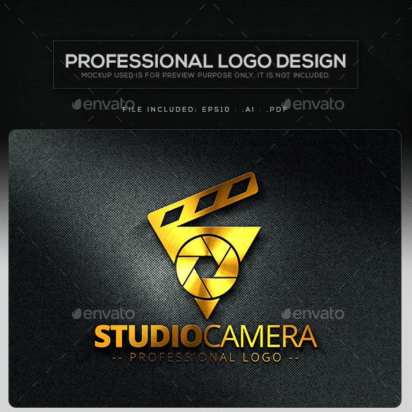 Studio Camera Logo Template