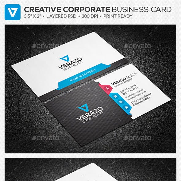 Clean & Creative Corporate Business Card 69