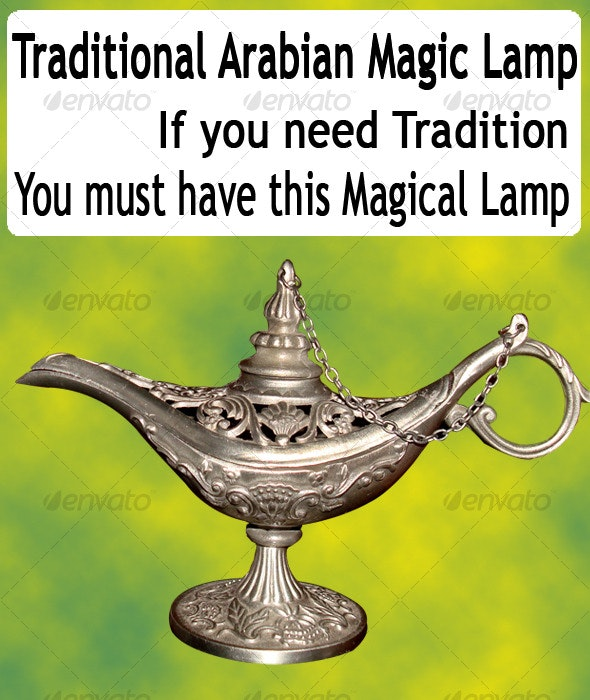 Arabian Antique Magic Lamp - Miscellaneous Isolated Objects