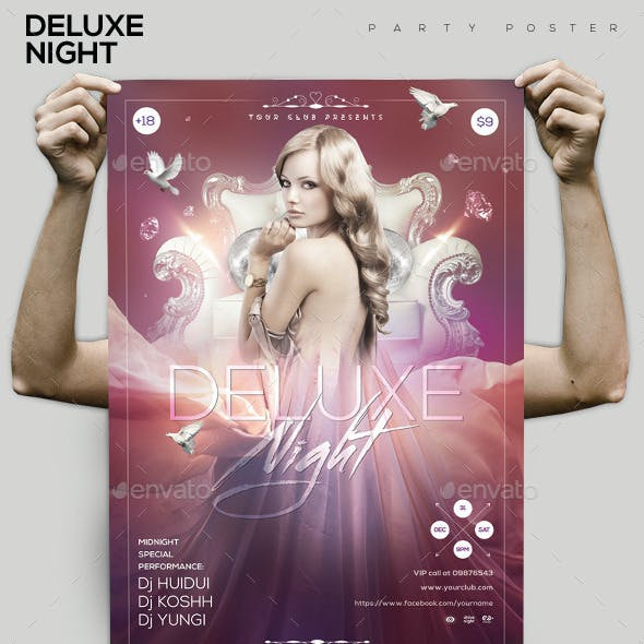 Deluxe Night Party Flyer/Poster