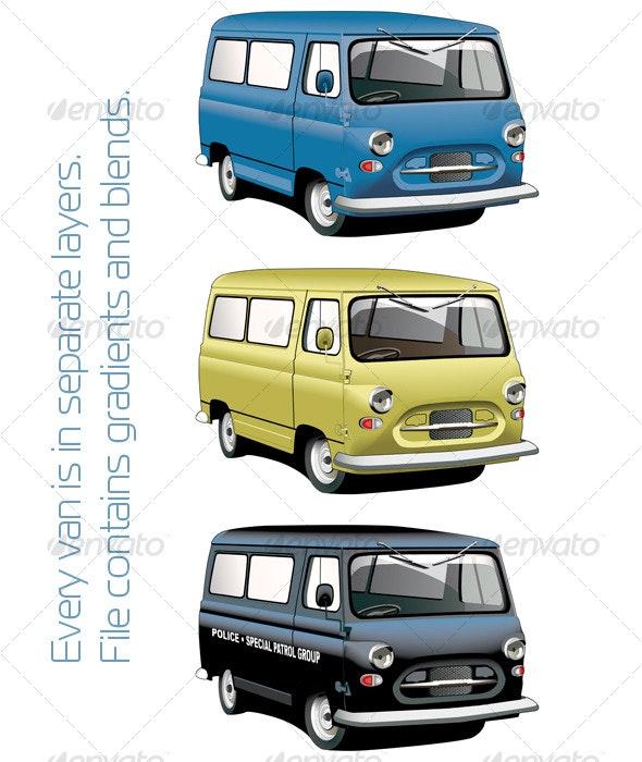 Old-fashioned van set - Retro Technology