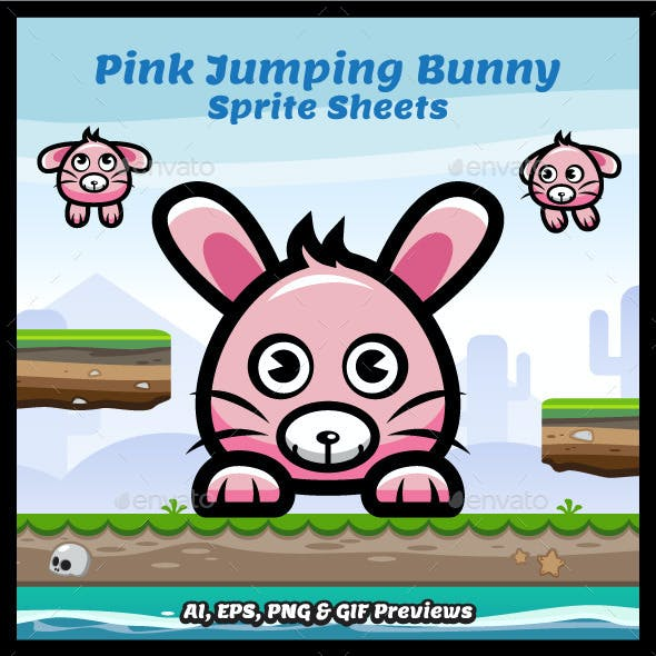 Jumping Bunny Sprite Sheets